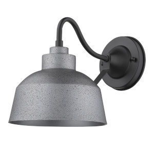 Barnes Gray 12-Inch One-Light Outdoor Wall Mount