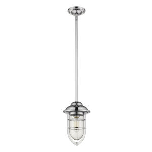 Dylan Chrome One-Light Outdoor Convertible Mini-Pendant