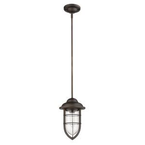 Dylan Oil Rubbed Bronze One-Light Outdoor Convertible Mini-Pendant