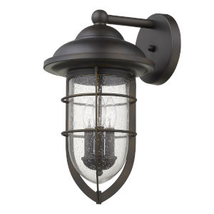 Dylan Oil Rubbed Bronze Three-Light Outdoor Wall Mount