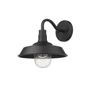 Burry Matte Black 10-Inch One-Light Outdoor Wall Sconce