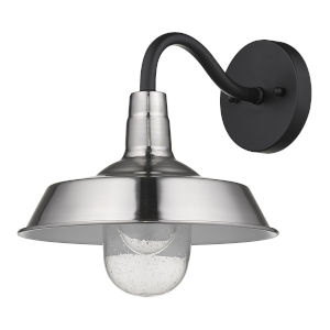 Burry Satin Nickel One-Light Outdoor Wall Mount