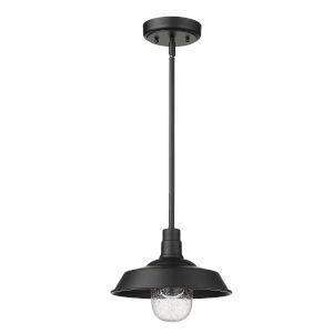 Burry Matte Black One-Light Outdoor Pendant