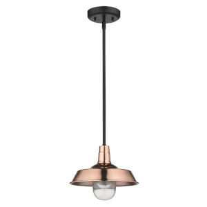 Burry Copper One-Light Outdoor Convertible Pendant