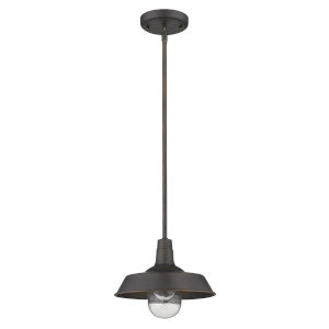 Burry Oil Rubbed Bronze One-Light Outdoor Convertible Pendant