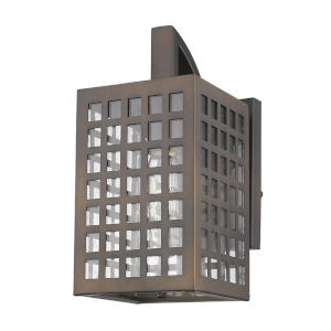 Letzel Oil Rubbed Bronze One-Light Outdoor Wall Mount