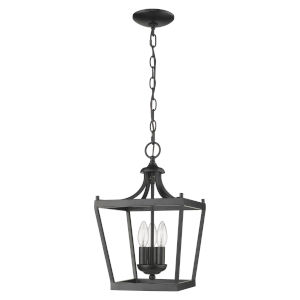Kennedy Matte Black Three-Light Chandelier