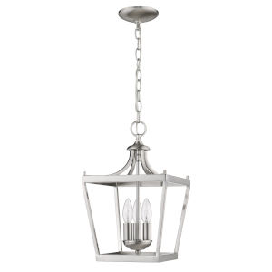 Kennedy Satin Nickel Three-Light Chandelier