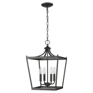 Kennedy Matte Black Four-Light Chandelier