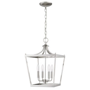 Kennedy Satin Nickel Four-Light Chandelier