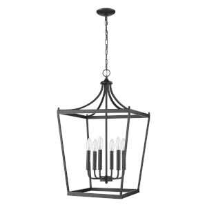 Kennedy Matte Black Six-Light Chandelier