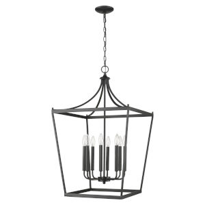 Kennedy Matte Black Eight-Light Chandelier