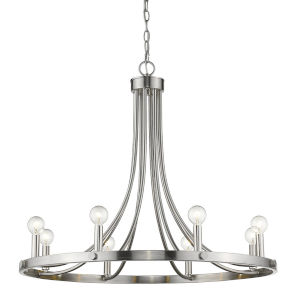 Sawyer Satin Nickel Eight-Light Chandelier
