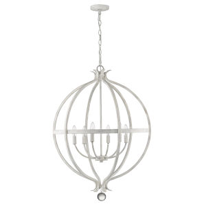 Callie Country White Six-Light Pendant