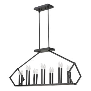 Luca Matte Black 14-Light Pendant