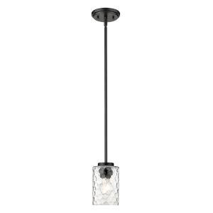 Livvy Matte Black One-Light Mini Pendant