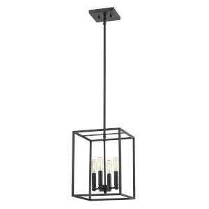 Cobar Matte Black Four-Light Pendant