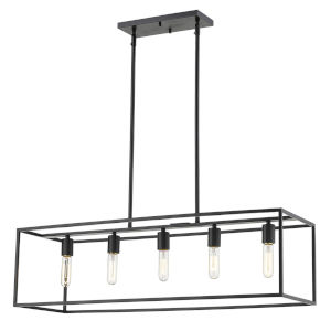Cobar Matte Black Five-Light Pendant