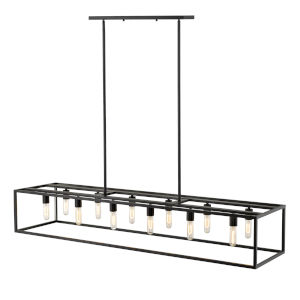 Cobar Matte Black 12-Light Pendant