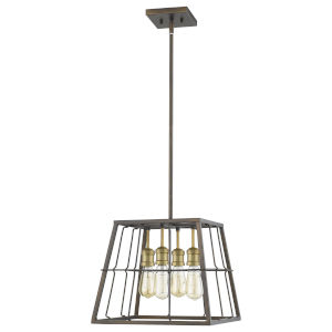 Charley Oil Rubbed Bronze 15-Inch Four-Light Pendant