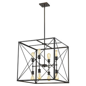 Brooklyn Oil Rubbed Bronze 24-Inch Eight-Light Pendant