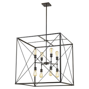 Brooklyn Oil Rubbed Bronze 30-Inch Eight-Light Pendant