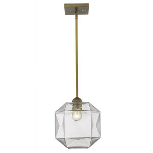 Loft Brass One-Light Mini Pendant