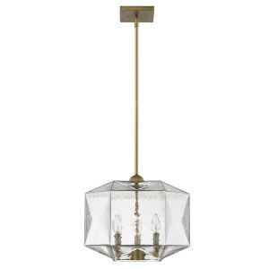 Loft Brass Three-Light Pendant