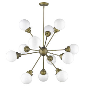 Portsmith Raw Brass 12-Light Chandelier