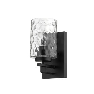Livvy Matte Black One-Light Bath Vanity
