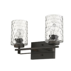 Livvy Oil-Rubbed Bronze Two-Light Bath Vanity