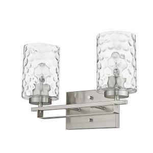 Livvy Satin Nickel Two-Light Bath Vanity