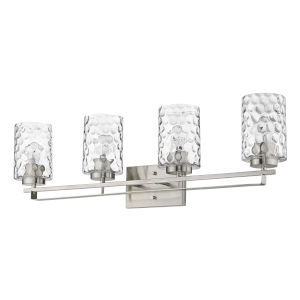 Livvy Satin Nickel Four-Light Bath Vanity