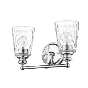 Mae Chrome Two-Light Bath Vanity