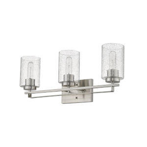 Orella Satin Nickel Three-Light Bath Vanity