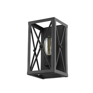 Brooklyn Matte Black One-Light Wall Sconce