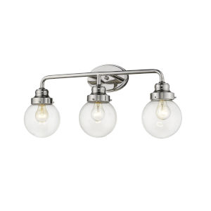 Portsmith Polished Nickel Three-Light Bath Vanity