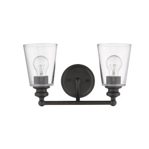 Ceil Oil Rubbed Bronze Two-Light Bath Vanity
