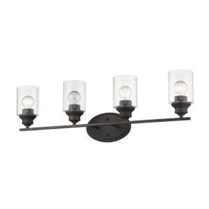 Gemma Oil Rubbed Bronze Four-Light Bath Vanity