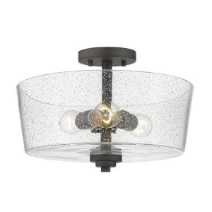 Rowe Oil Rubbed Bronze Three-Light Semi Flush Mount