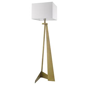 Stratos Aged Brass One-Light Floor Lamp