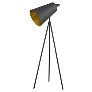 Faza Matte Black One-Light Floor Lamp