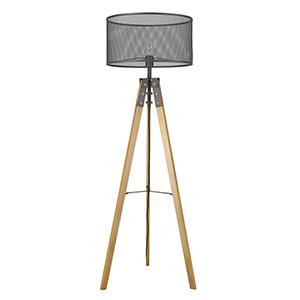 Capprice Matte Black One-Light Floor Lamp