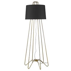 Lamia Gold One-Light Floor Lamp