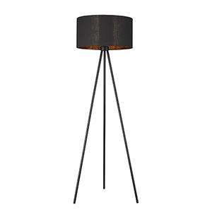 Morenci Matte Black One-Light Floor Lamp