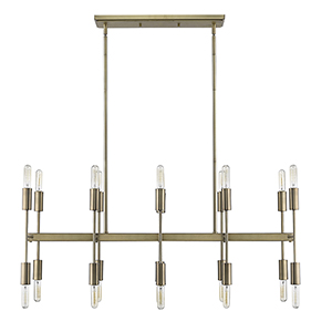 Perret Aged Brass 20-Light Island Pendant