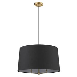 Lamia Gold Three-Light Pendant