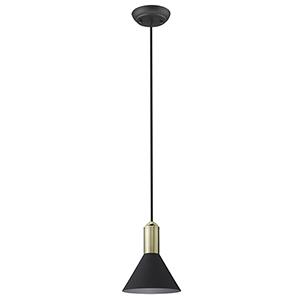 Ingo Matte Black Six-Inch One-Light Mini Pendant
