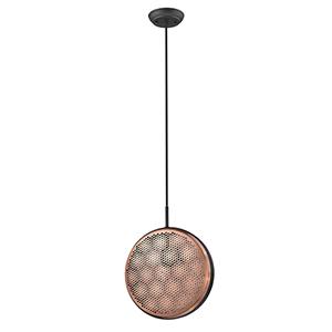 Tholos Matte Black One-Light Mini Pendant