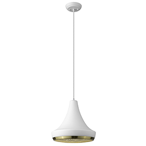 Tholos White One-Light Pendant